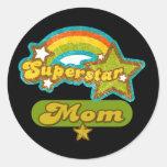 SuperStar Mum Round Sticker