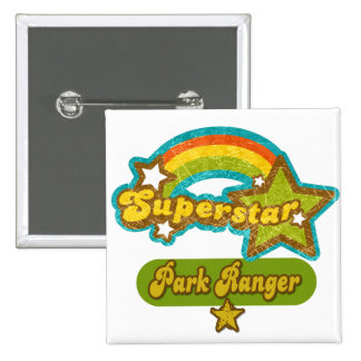 Superstar Park Ranger 15 Cm Square Badge