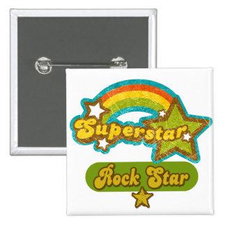 Superstar Rock Star Pinback Buttons