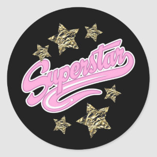 'Superstar' Round Sticker
