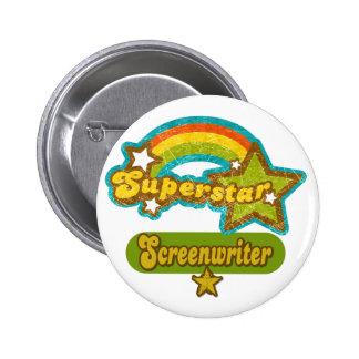 Superstar Screenwriter Pinback Buttons