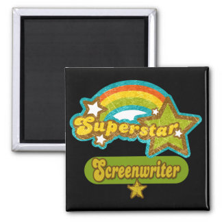 Superstar Screenwriter Square Magnet