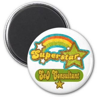 Superstar SEO Consultant Refrigerator Magnets