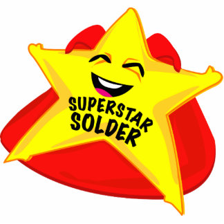 superstar solder funny photo  sculpture! acrylic cut outs