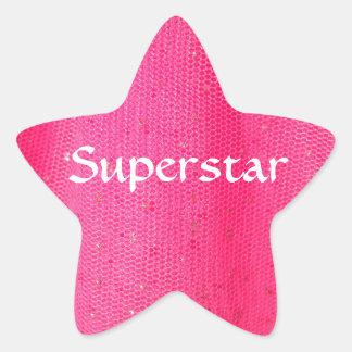 Superstar sticker in hot pink