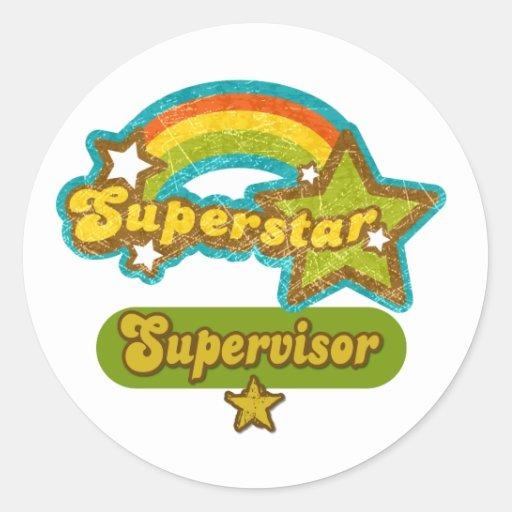 Superstar Supervisor Round Sticker