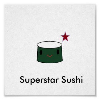 Superstar Sushi Poster