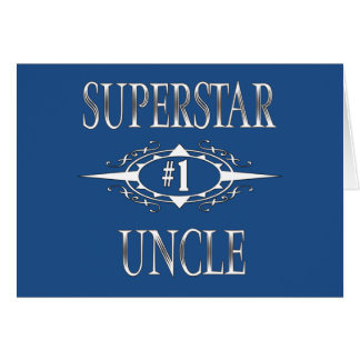 Superstar Uncle Gift Ideas Card