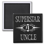 Superstar Uncle Square Magnet
