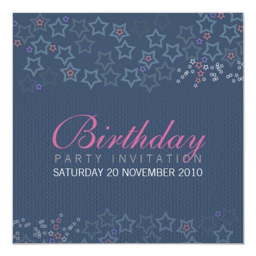 Superstars Birthday Invitationz 13 Cm X 13 Cm Square Invitation Card