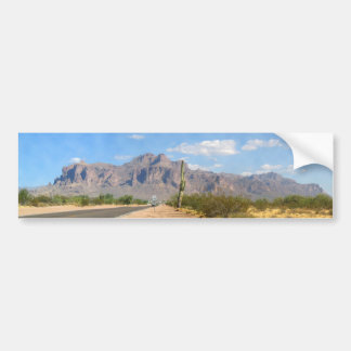 Superstition Mountain - Panoramic Bumper Sticker