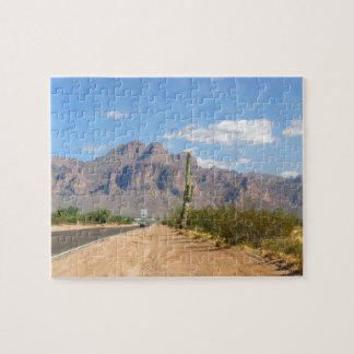 Superstition Mountain - Panoramic Jigsaw Puzzle