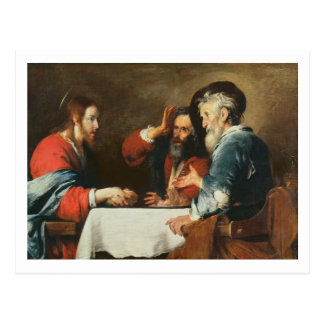 Supper at Emmaus (oil on canvas) 2 Postcard