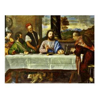 Supper at Emmaus with Friends Postcard