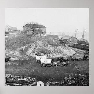 Supply Train: 1865 Print