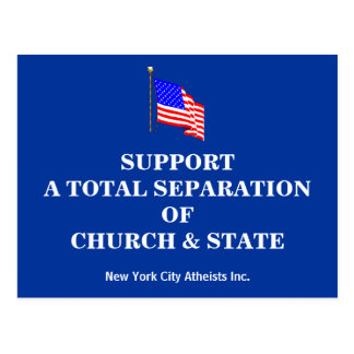 Support A Total Separation Of Church & State Postcard