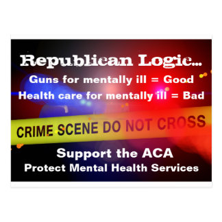 Support ACA Mental Health Services Postcard