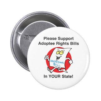 Support Adoptee Rights Bills Assortment Buttons