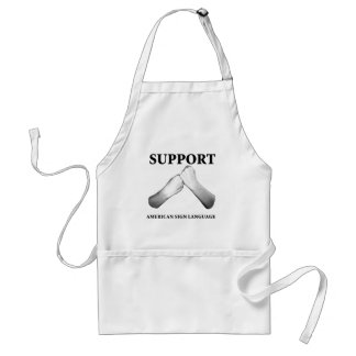 Support American Sign Language (front) (7) Standard Apron
