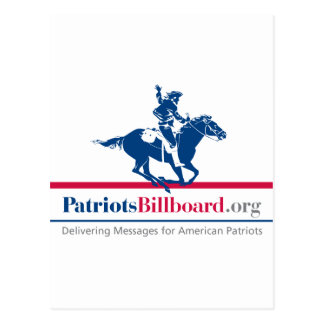 Support American values at PatriotsBillboard.org Postcard