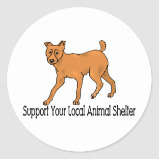 Support Animal Shelters Classic Round Sticker