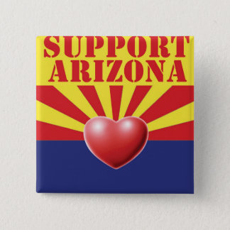 SUPPORT Arizona, AZ 15 Cm Square Badge