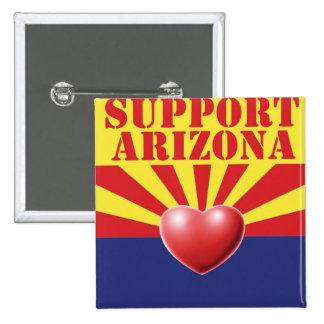 SUPPORT Arizona, AZ 15 Cm Square Badge