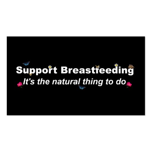 Support Breastfeeding nature design-2 Business Card Template