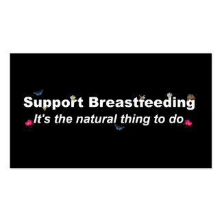 Support Breastfeeding nature design-2 Pack Of Standard Business Cards