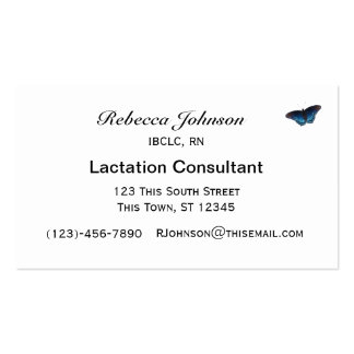 Support Breastfeeding nature design Business Card Templates