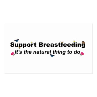 Support Breastfeeding nature design Pack Of Standard Business Cards