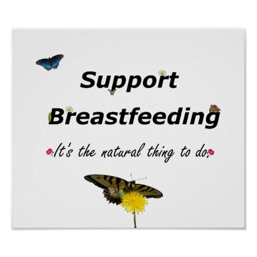 Support Breastfeeding nature design Poster