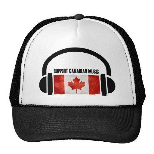 Support Canadian Music Mesh Hat