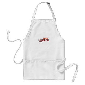 support Cannibalism eat me Standard Apron