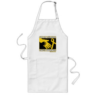 Support Childhood Cancer Awareness Abstract Hands Long Apron