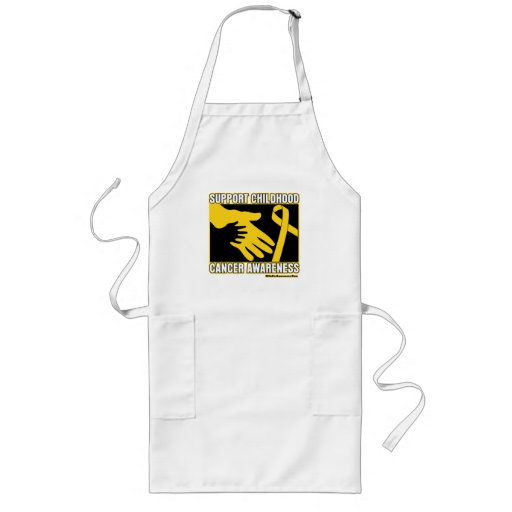Support Childhood Cancer Awareness Abstract Hands Apron