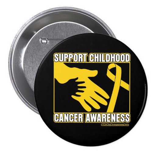 Support Childhood Cancer Awareness Abstract Hands Pin