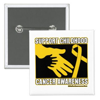 Support Childhood Cancer Awareness Abstract Hands Pins