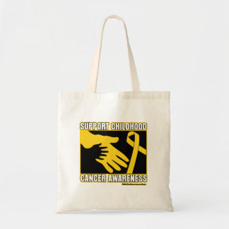Support Childhood Cancer Awareness Abstract Hands Canvas Bag