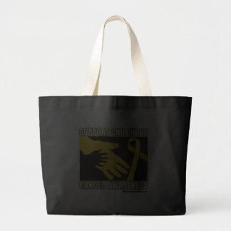 Support Childhood Cancer Awareness Abstract Hands Tote Bag