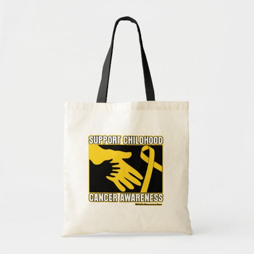 Support Childhood Cancer Awareness Abstract Hands Tote Bags