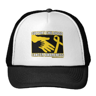 Support Childhood Cancer Awareness Abstract Hands Trucker Hat