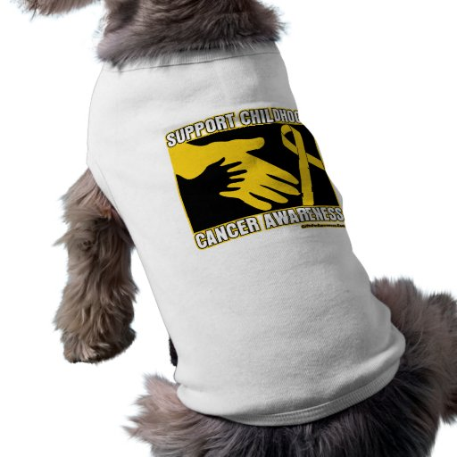 Support Childhood Cancer Awareness Abstract Hands Doggie T Shirt