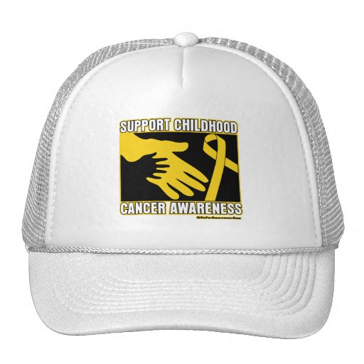 Support Childhood Cancer Awareness Abstract Hands Hats