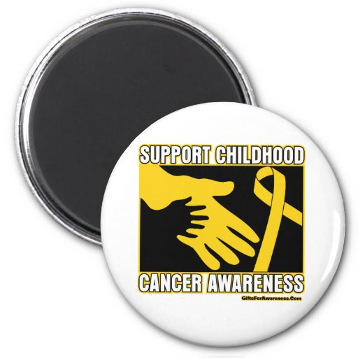 Support Childhood Cancer Awareness Abstract Hands Fridge Magnets
