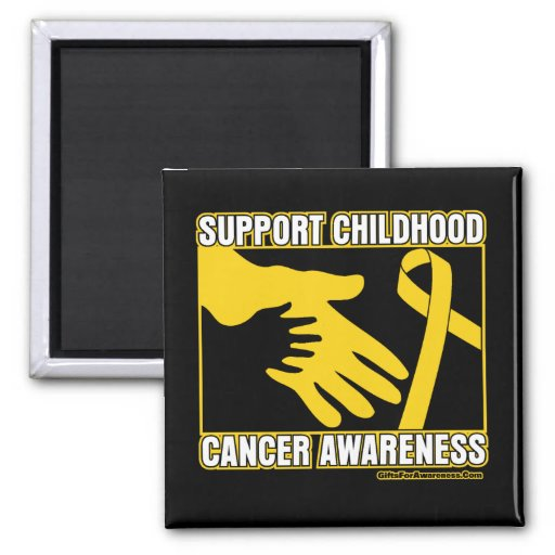 Support Childhood Cancer Awareness Abstract Hands Magnet