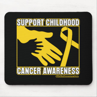 Support Childhood Cancer Awareness Abstract Hands Mouse Pad