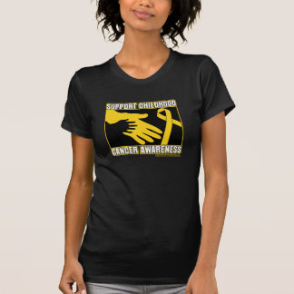 Support Childhood Cancer Awareness Abstract Hands Tshirt