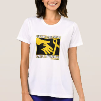 Support Childhood Cancer Awareness Abstract Hands T Shirts