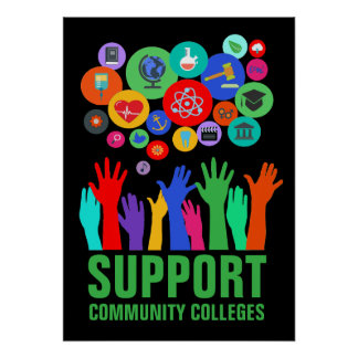 "Support Community Colleges Access Education 20X28"" Poster"